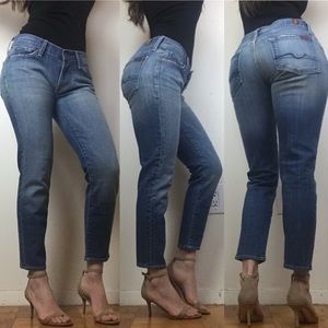 7 Seven for All Mankind Joyce Skinny Cropped Jeans